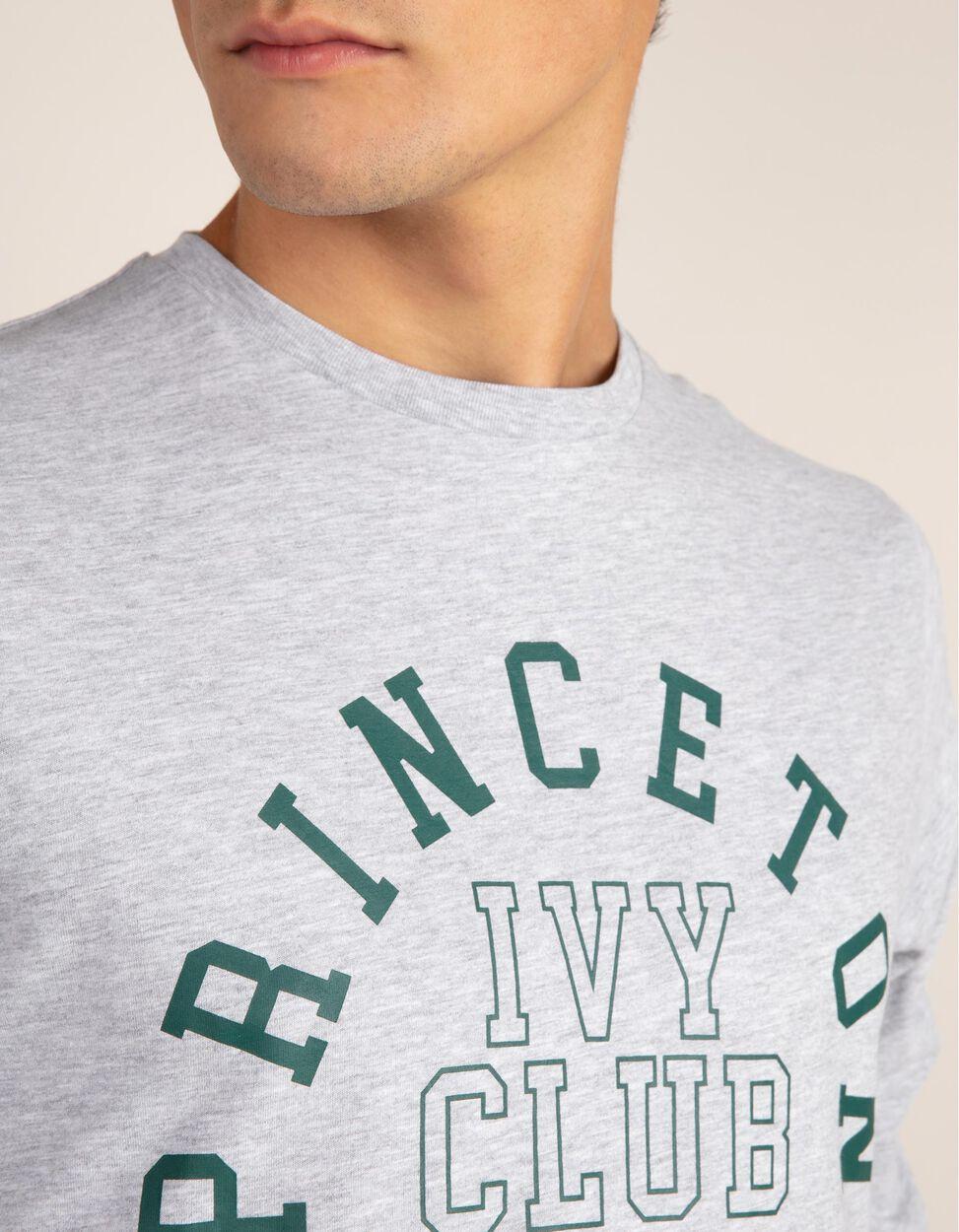 T-shirt lisa com estampado Princeton na zona frontal