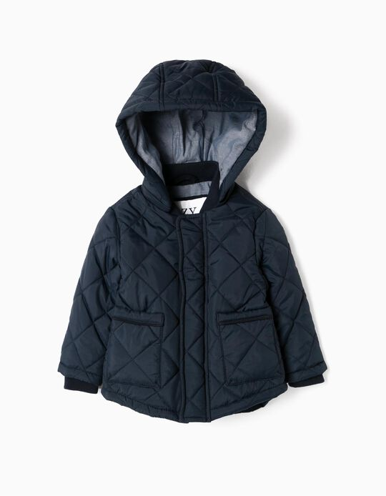 Padded Jacket for Baby Boys, Dark Blue