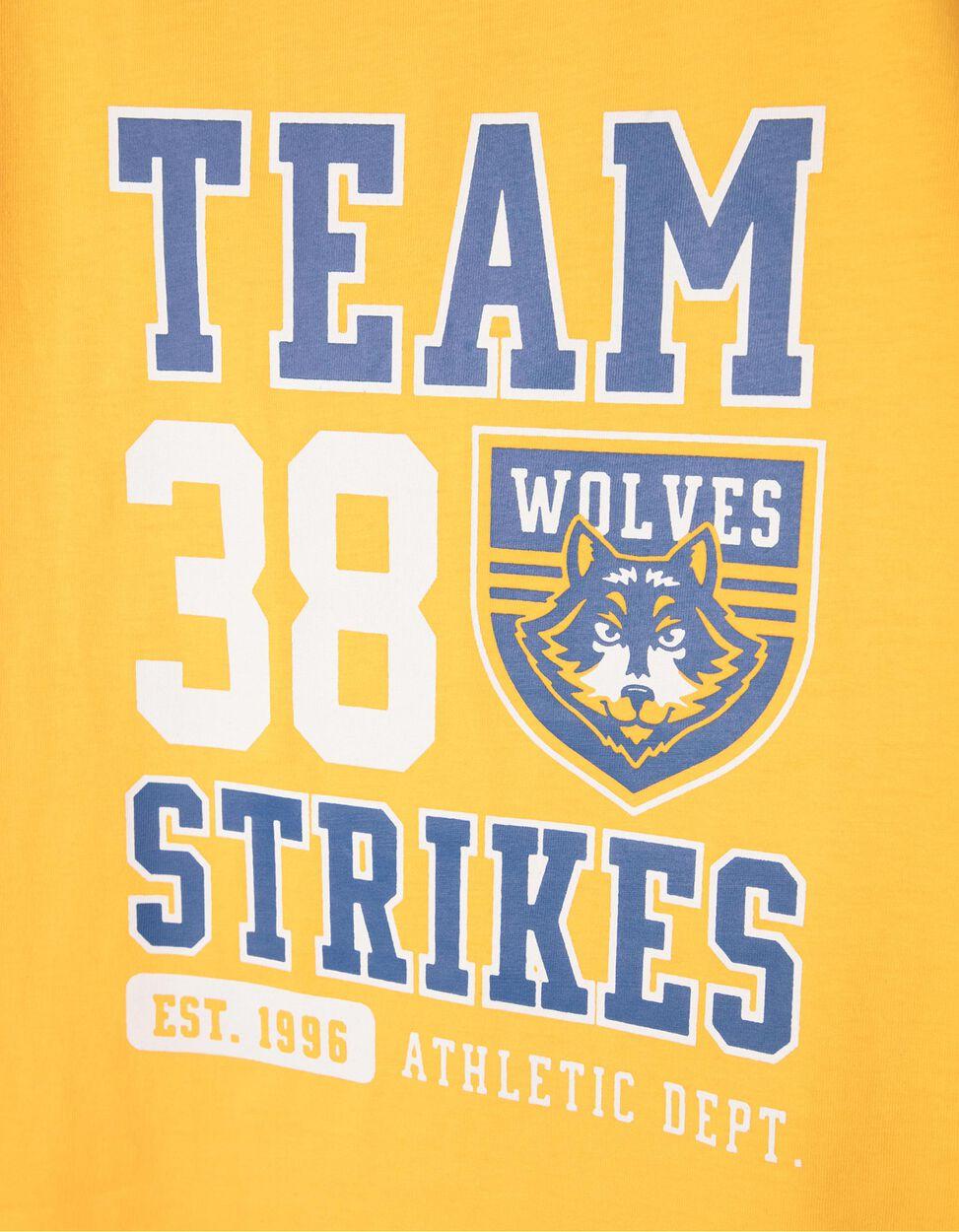 T-shirt Team Wolves Amarela