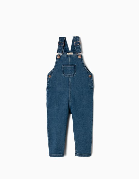 Dungarees for Baby Girls 'Comfort Denim', Blue