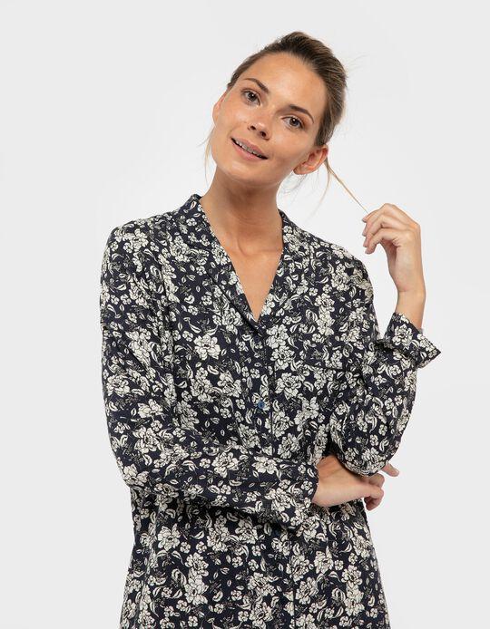 Camisa de noite florida