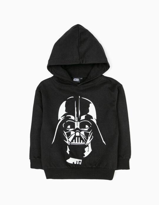 Sweatshirt com Capuz Star Wars Preta