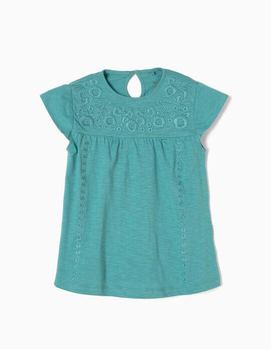 T-shirt Bordados Azul