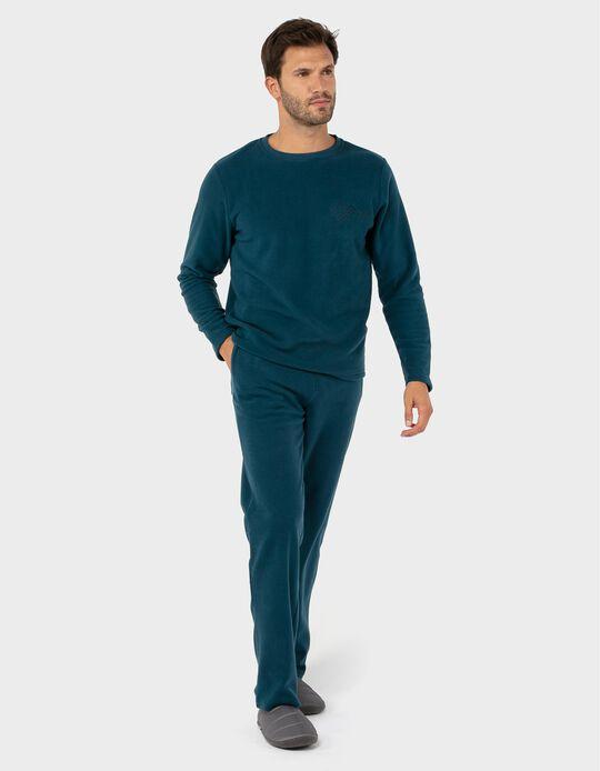 Conjunto de pijama polar liso