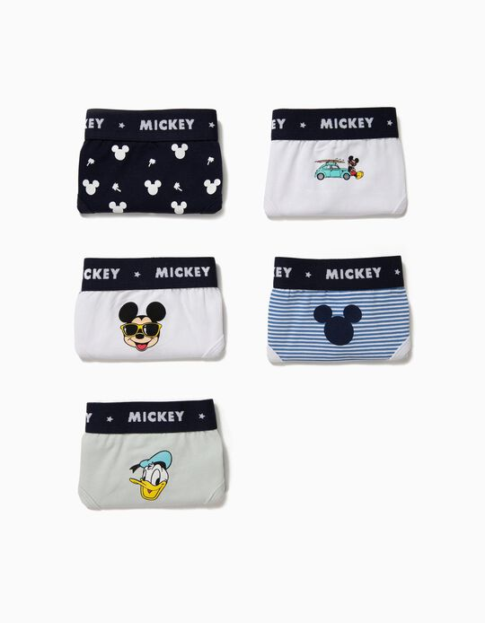 5 Cuecas para Menino 'Mickey & Donald' Multicolor