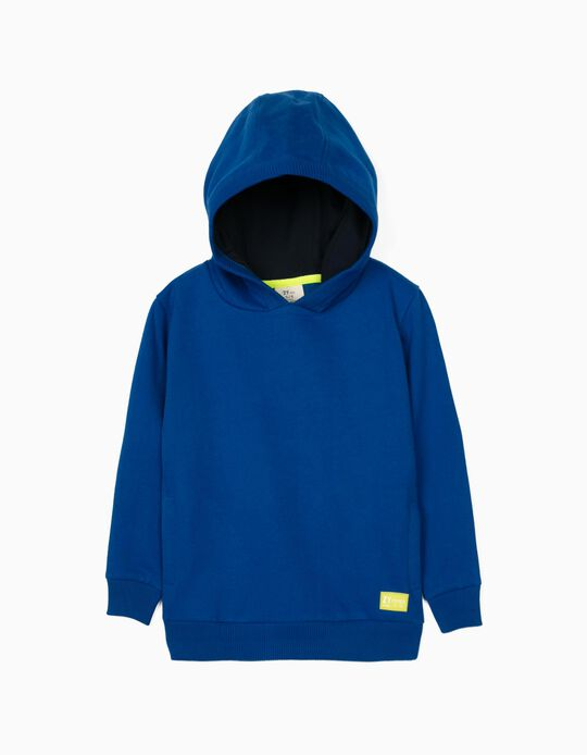 Hooded Sweatshirt for Boys 'ZY 96', Blue