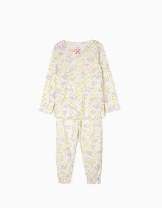 Pijama para Menina 'Sloths', Branco