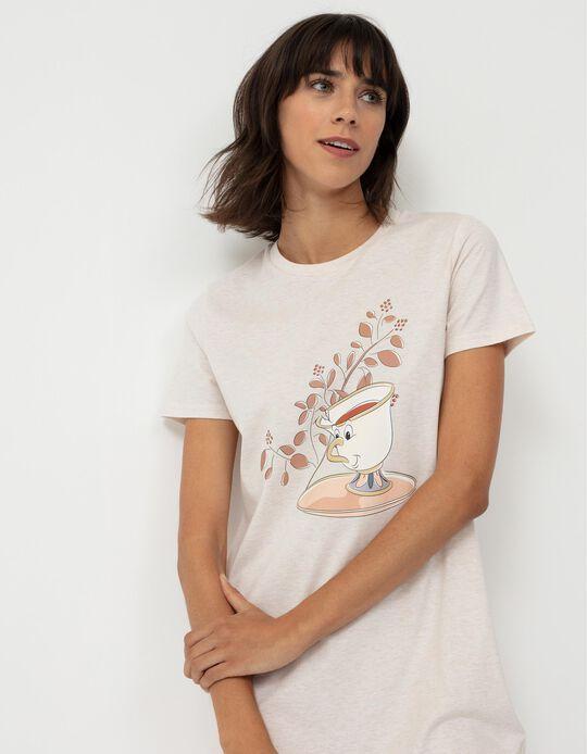 Camisa de Noite Disney Princess, Mulher, Bege