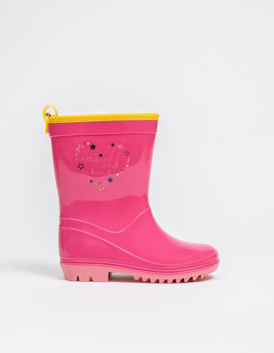 Patent Wellies, Baby Girls, Pink