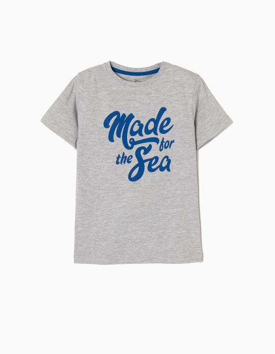 T-shirt Manga Curta Made For The Sea