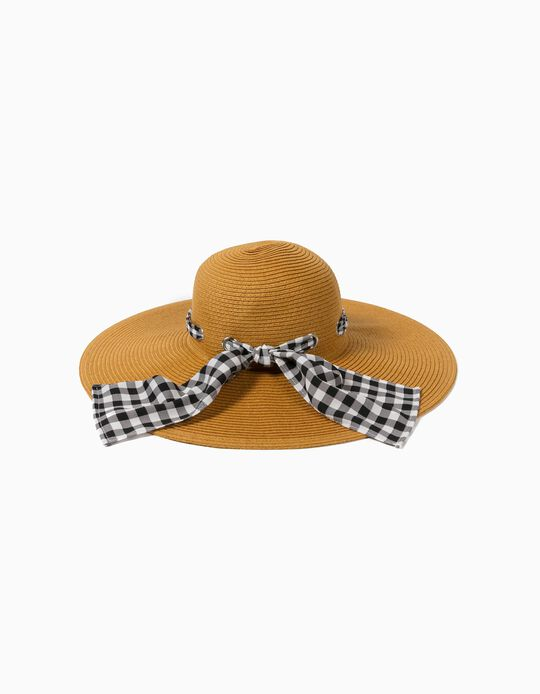 Wide Brim Hat with Bow