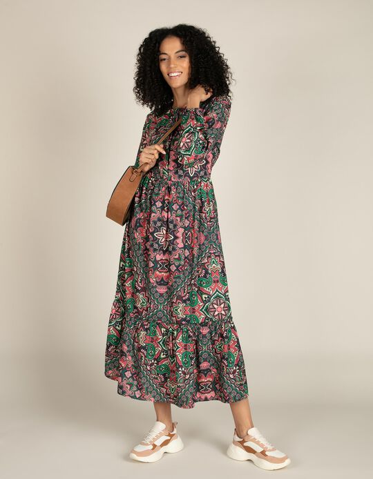 Paisley pattern dress