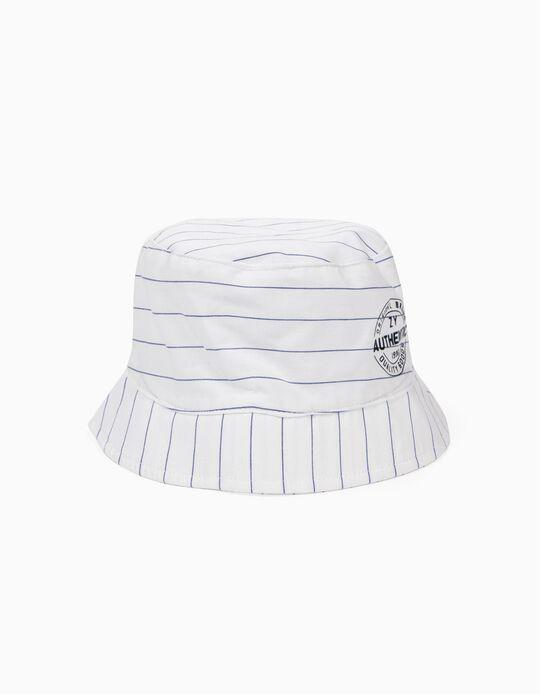 Chapéu para Menino Riscas, Branco