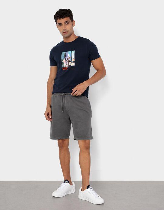 Jogger Shorts for Men, Grey