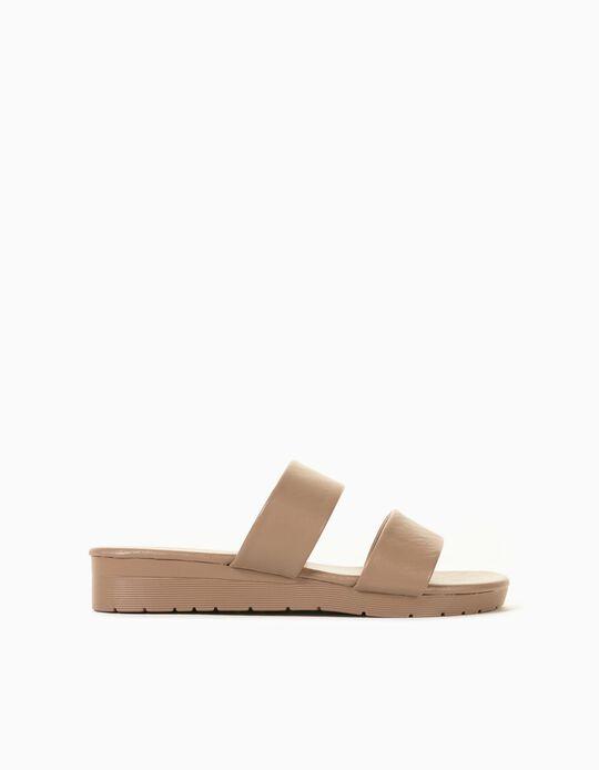 Strappy Sandals for Women, Beige