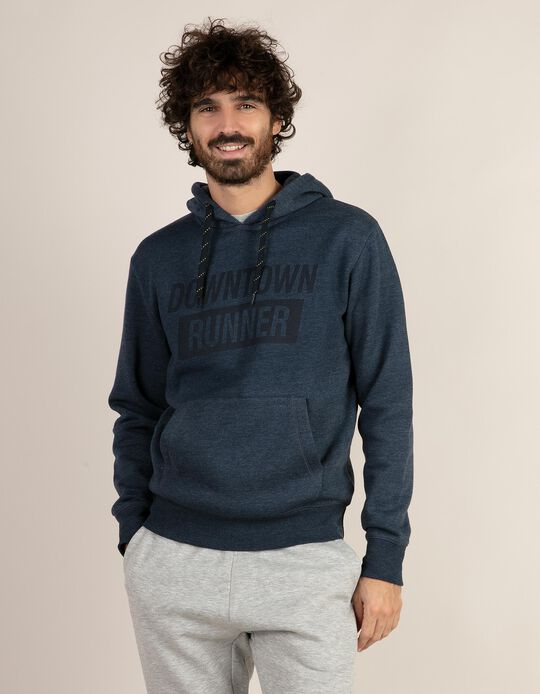 Sweatshirt mesclada com capuz