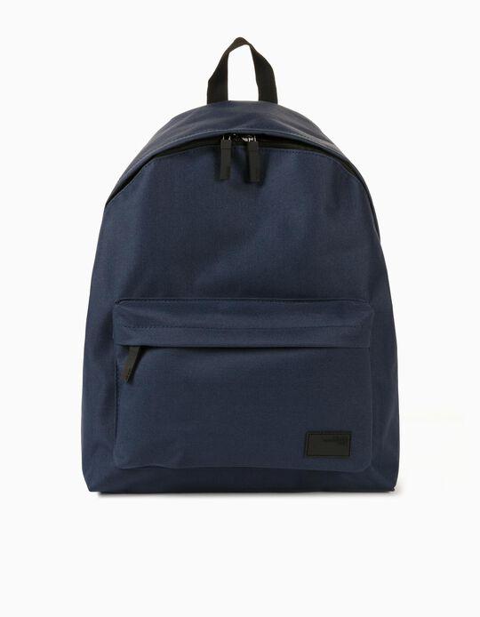 Canvas Backpack for Men, Blue