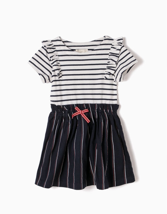 Combined Dress, Stripes