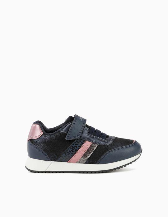 GEOX Trainers, Girls, Dark Blue/ Pink