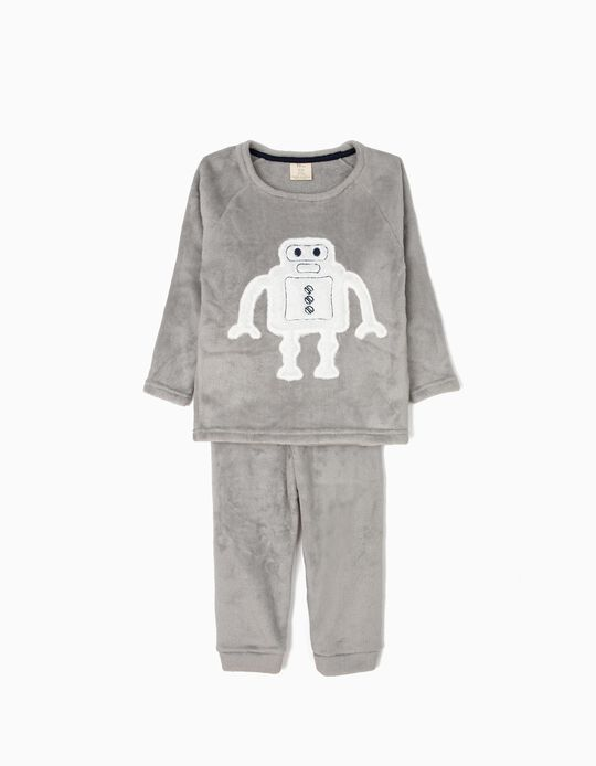 Pyjamas for Boys 'Robots', Grey