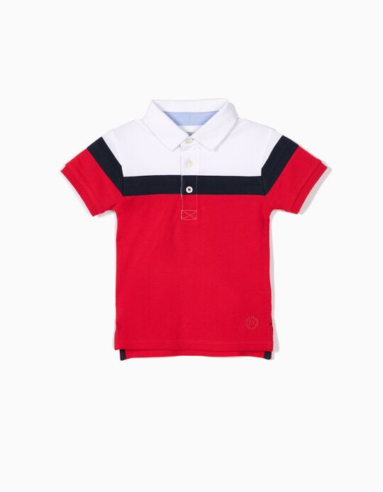 Polo para Bebé Menino 'B&S', Tricolor
