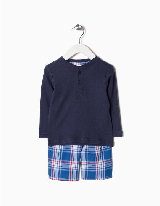 Pijama Calções Xadrez