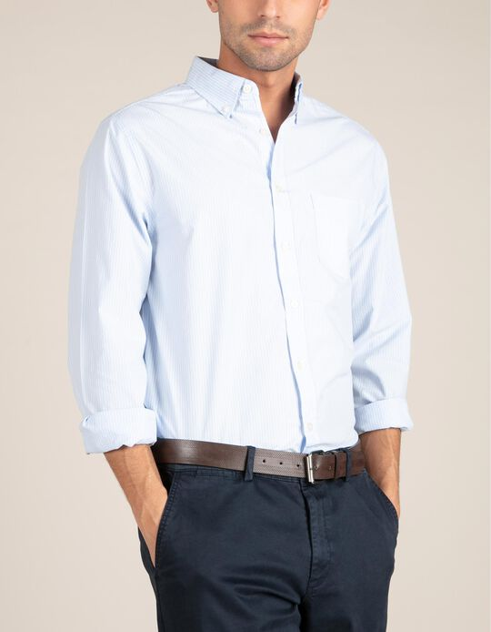 Camisa Regular Fit com Riscas