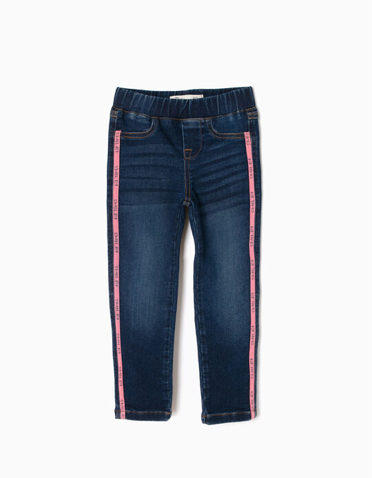 Jeans with Pink Stripes