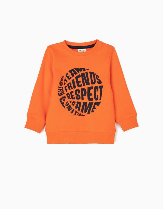 Sweatshirt para Bebé Menino 'Sports', Laranja
