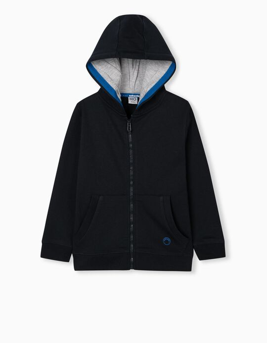 Tracksuit Jacket in Organic Cotton, Blue