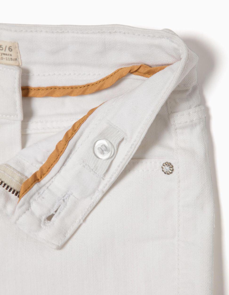 Calças de Sarja Brancas