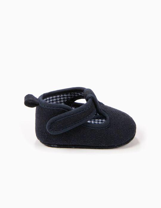 Sapatos Pre-Walker de Lã Azuis