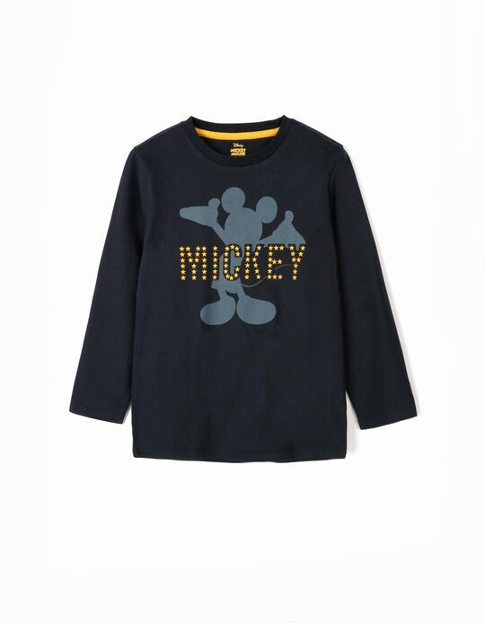 Long-sleeve Top for Boys 'Mickey', Dark Blue