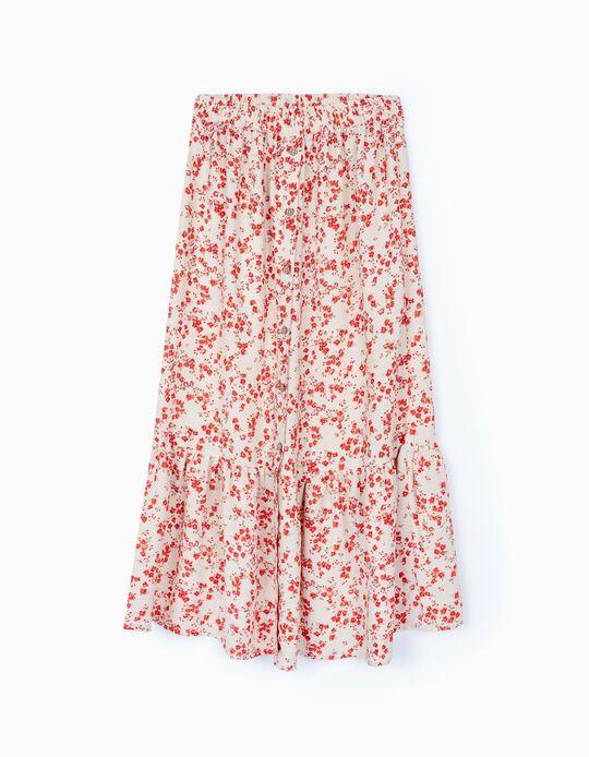 Long Floral Skirt, for Women