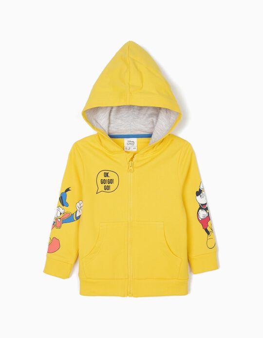 Casaco para Bebé Menino 'Mickey & Donald' com Capuz, Amarelo