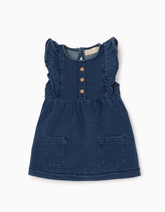 Dress for Newborn Baby Girls 'Comfort Denim', Blue