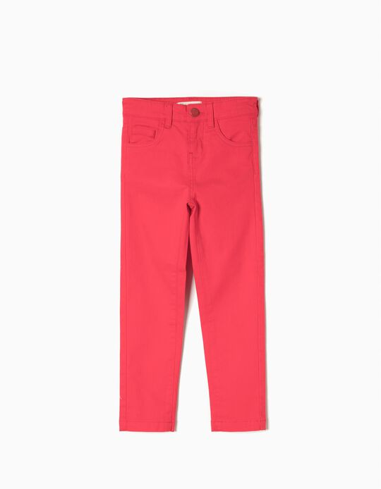 Twill Pants for Girls, Red