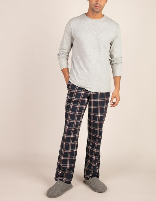 Conjunto de pijama em tartan