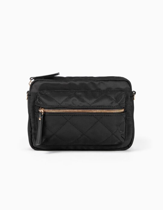 Padded nylon crossbody bag