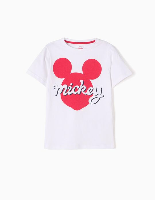 White T-Shirt, Mickey Mouse