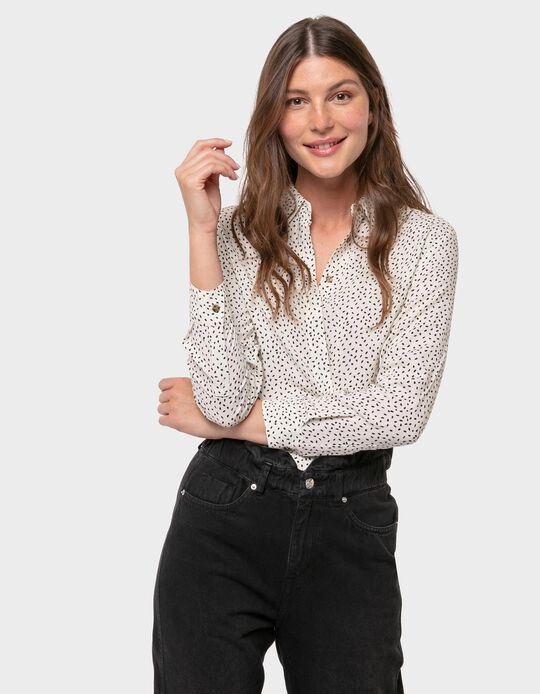 Loose-Fitting Blouse with Pattern