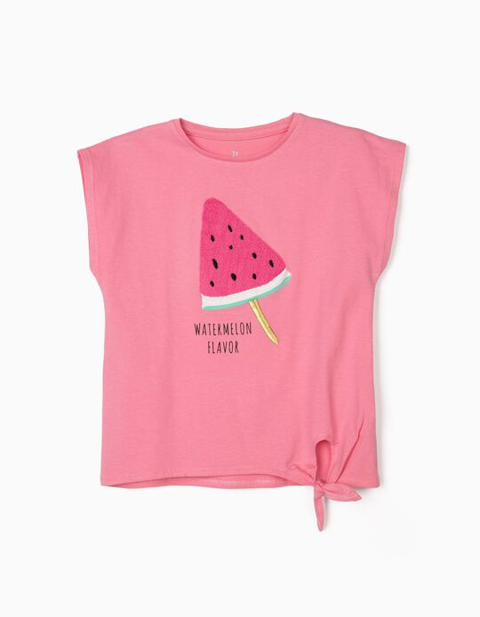 T-shirt for Girls, 'Watermelon Flavour', Pink