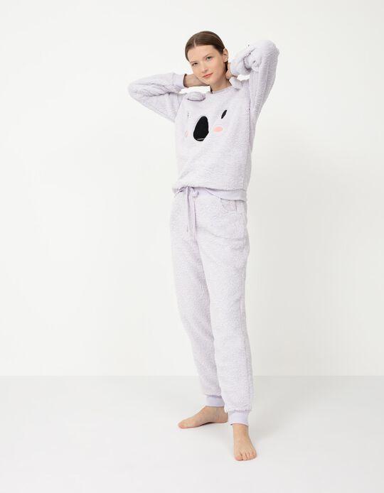 Pijama Quente, Mulher, Lilás