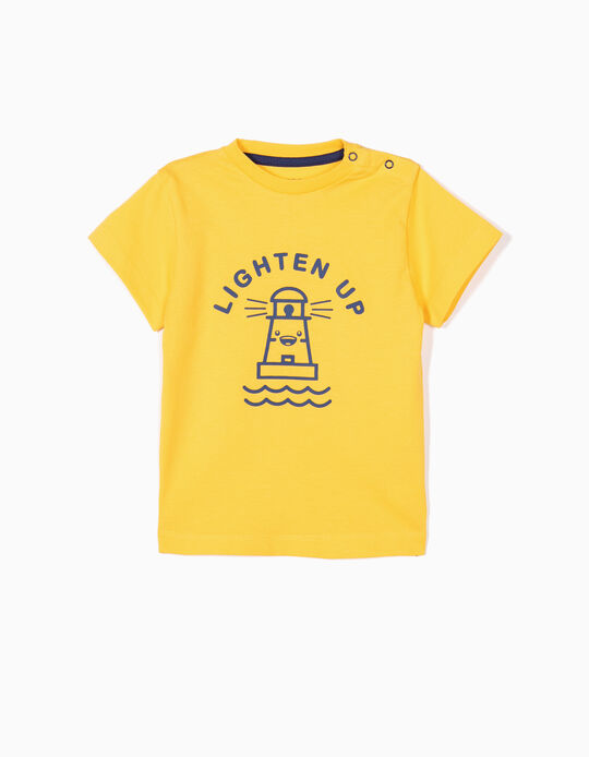 T-shirt for Baby Boys 'Lighten Up', Yellow
