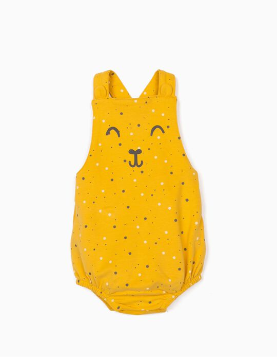 Jumpsuit for Newborn Baby Boys, 'Smile', Yellow