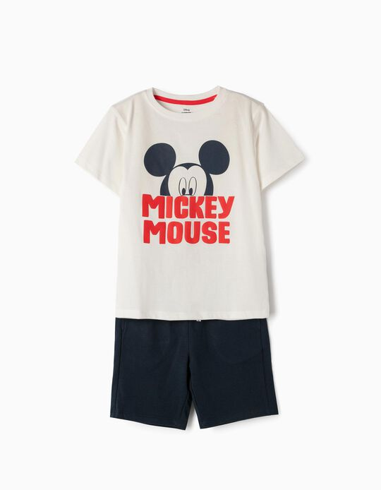 T-shirt and Shorts for Boys 'Mickey', White and Blue