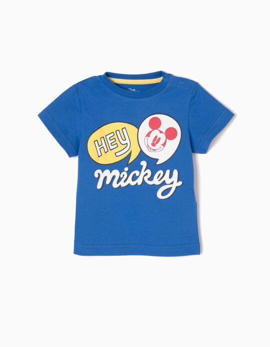 T-shirt Azul Hey Mickey