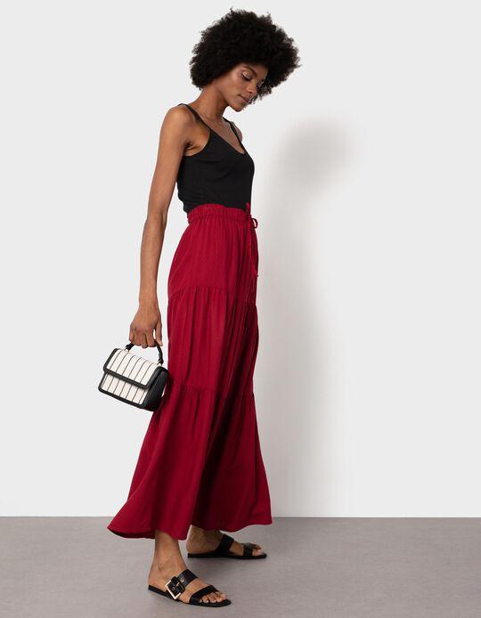 Loose-Fitting Midi Skirt for Women