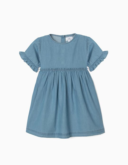 Vestido Denim para Menina, Azul Claro