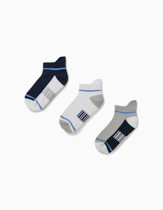 3 Pairs of Sports Socks for Boys, Multicoloured